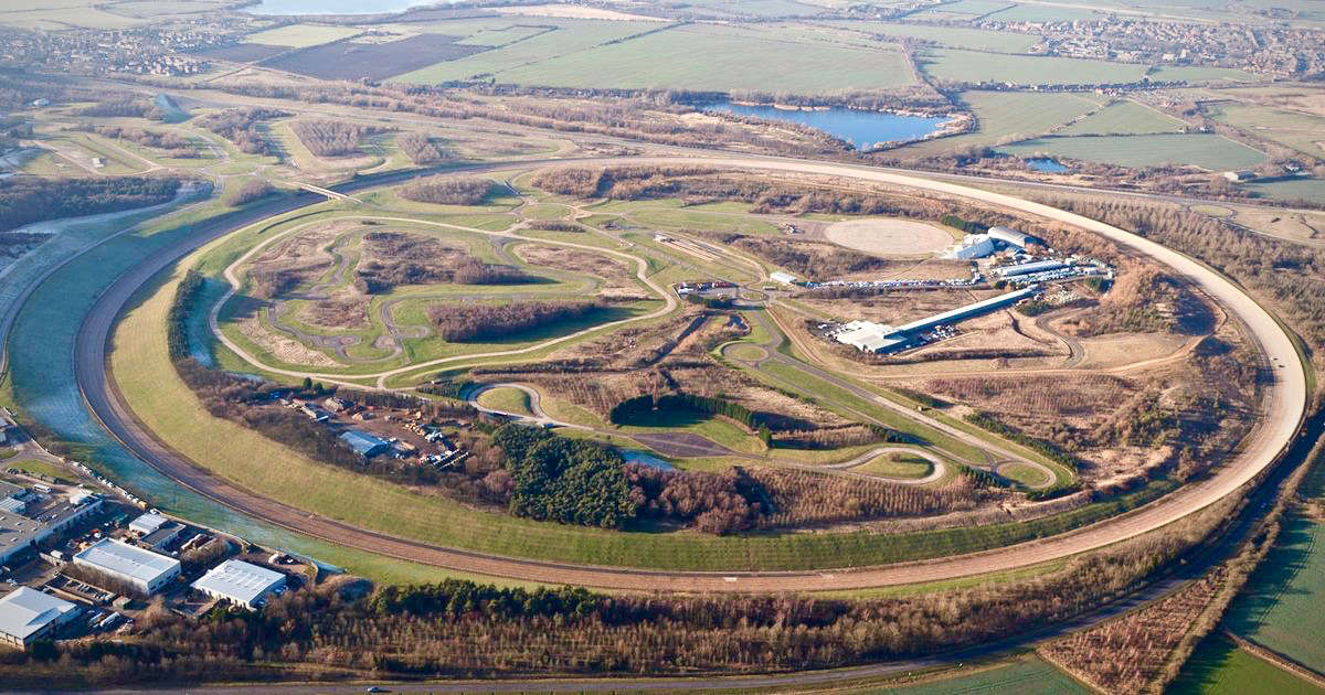 Aerial view over the Millbrook Proving Ground vehicle development and test track in Bedfordshire.jpg