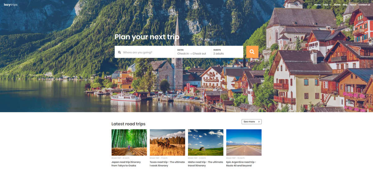 LazyTrips - road trip website gets a new look!